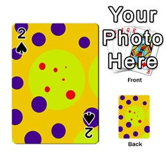 Yellow and purple dots Playing Cards 54 Designs