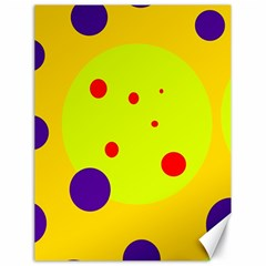 Yellow and purple dots Canvas 18  x 24