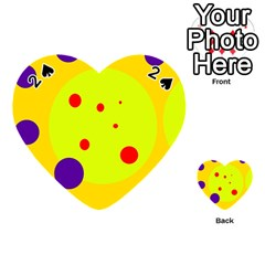 Yellow and purple dots Playing Cards 54 (Heart)