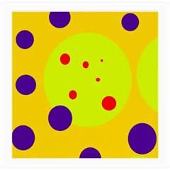 Yellow and purple dots Medium Glasses Cloth