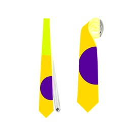 Yellow and purple dots Neckties (Two Side)