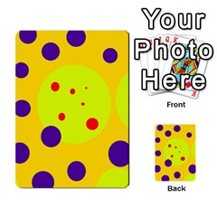 Yellow and purple dots Multi-purpose Cards (Rectangle)