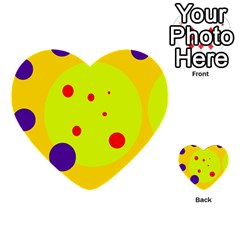 Yellow and purple dots Multi-purpose Cards (Heart)