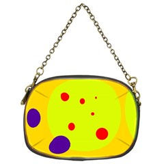 Yellow and purple dots Chain Purses (One Side)