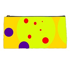 Yellow and purple dots Pencil Cases