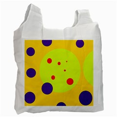 Yellow and purple dots Recycle Bag (One Side)