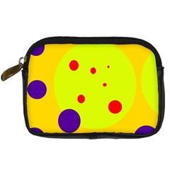Yellow and purple dots Digital Camera Cases
