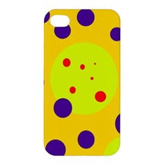 Yellow and purple dots Apple iPhone 4/4S Hardshell Case