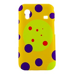 Yellow and purple dots Samsung Galaxy Ace S5830 Hardshell Case