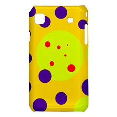 Yellow and purple dots Samsung Galaxy S i9008 Hardshell Case