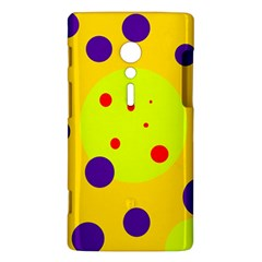 Yellow and purple dots Sony Xperia ion