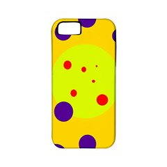 Yellow and purple dots Apple iPhone 5 Classic Hardshell Case (PC+Silicone)