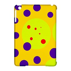 Yellow and purple dots Apple iPad Mini Hardshell Case (Compatible with Smart Cover)