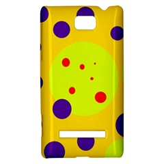 Yellow and purple dots HTC 8S Hardshell Case