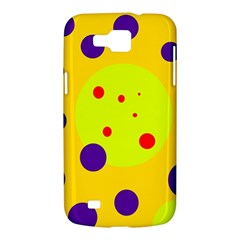 Yellow and purple dots Samsung Galaxy Premier I9260 Hardshell Case