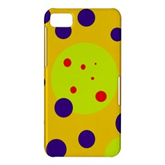 Yellow and purple dots BlackBerry Z10