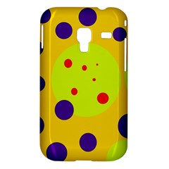 Yellow and purple dots Samsung Galaxy Ace Plus S7500 Hardshell Case