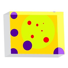 Yellow and purple dots 5 x 7  Acrylic Photo Blocks