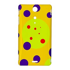 Yellow and purple dots Sony Xperia TX