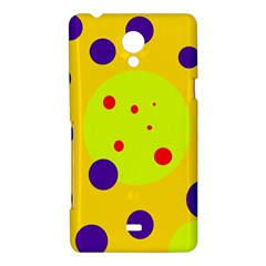 Yellow and purple dots Sony Xperia T