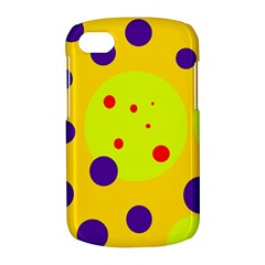 Yellow and purple dots BlackBerry Q10