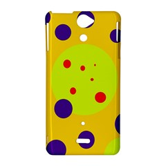 Yellow and purple dots Sony Xperia V