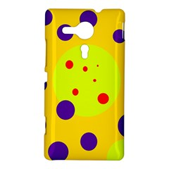 Yellow and purple dots Sony Xperia SP
