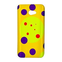 Yellow and purple dots HTC Butterfly S/HTC 9060 Hardshell Case