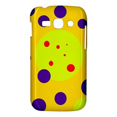 Yellow and purple dots Samsung Galaxy Ace 3 S7272 Hardshell Case