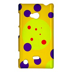 Yellow and purple dots Nokia Lumia 720