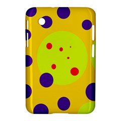 Yellow and purple dots Samsung Galaxy Tab 2 (7 ) P3100 Hardshell Case