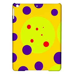 Yellow and purple dots iPad Air Hardshell Cases
