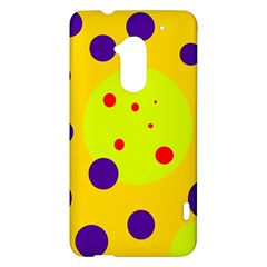 Yellow and purple dots HTC One Max (T6) Hardshell Case