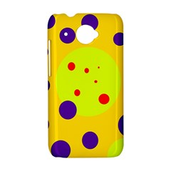 Yellow and purple dots HTC Desire 601 Hardshell Case