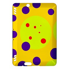 Yellow and purple dots Kindle Fire HDX Hardshell Case