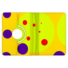 Yellow and purple dots Kindle Fire HDX Flip 360 Case