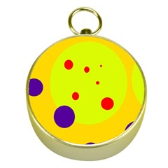 Yellow and purple dots Gold Compasses
