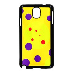 Yellow and purple dots Samsung Galaxy Note 3 Neo Hardshell Case (Black)