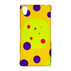 Yellow and purple dots Sony Xperia Z2