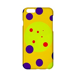 Yellow and purple dots Apple iPhone 6/6S Hardshell Case