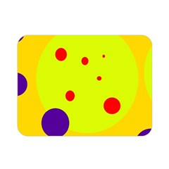 Yellow and purple dots Double Sided Flano Blanket (Mini)