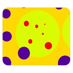 Yellow and purple dots Double Sided Flano Blanket (Small)