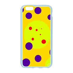 Yellow and purple dots Apple Seamless iPhone 6/6S Case (Color)