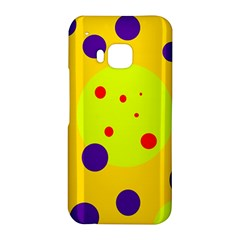 Yellow and purple dots HTC One M9 Hardshell Case