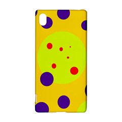 Yellow and purple dots Sony Xperia Z3+
