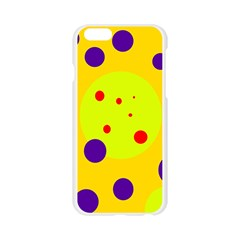 Yellow and purple dots Apple Seamless iPhone 6/6S Case (Transparent)
