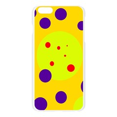 Yellow and purple dots Apple Seamless iPhone 6 Plus/6S Plus Case (Transparent)