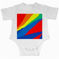 Colorful abstract design Infant Creepers