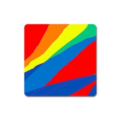 Colorful abstract design Square Magnet