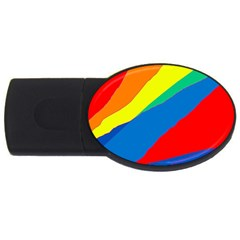 Colorful abstract design USB Flash Drive Oval (1 GB)